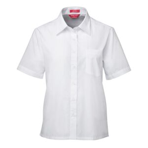 JB's LADIES S/S ORIGINAL POPLIN SHIRT WHITE Thumbnail