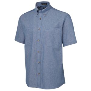 JB's S/S Cotton Chambray Shirt Chambray Thumbnail