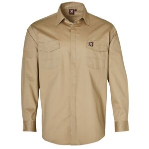 MENS STRETCH WORK SHIRT WITH 2 FRONT FLAP POCKETS Thumbnail